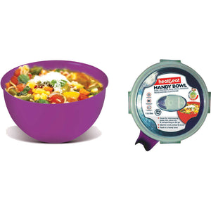 Heat & Eat Microwave Handy Bowl 1Ltr - Assorted Colours