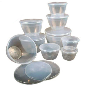 Pudding Basin Clear With Lid - Various Sizes