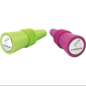 Rabbit W6119 Wine Bottle Stoppers Pkt 2 - Assorted Colours