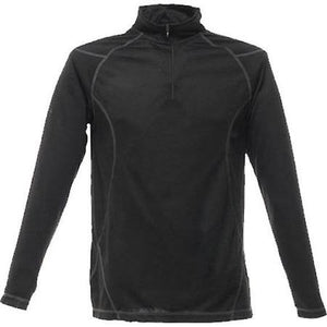 Regatta TRU116 Long Sleeve Neck Zip T-Shirt - Black