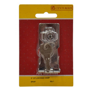 "Centurion SP54P Cylinder Locking Hasp - 3"" (75mm)"