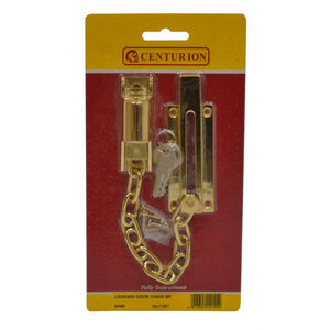 Centurion SP58P Locking Door Chain- Polished Brass Finish