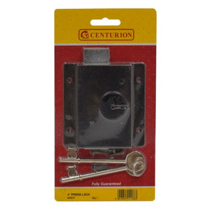 Centurion SP97P Shed Type Rim Lock - Black - 4""