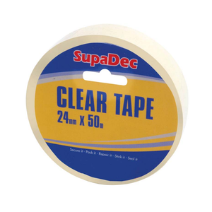 SupaDec Clear Tape 24mm x 50m