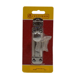 "Centurion VB106P Flat Sliding Door Bolt 4"" - Chrome Plated"