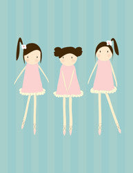 Printable Wall Art for Kids - Dancers