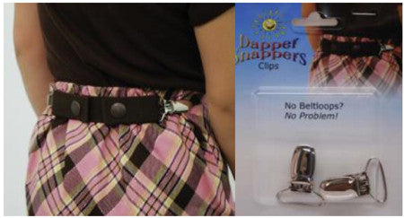 No Belt loops? No Problem! Add-On Clips for Dapper Snapper