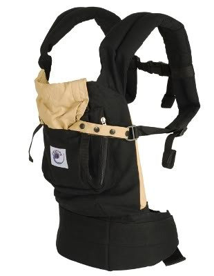 Ergo Baby Carrier - Black with Camel Lining - STORE CLOSING CLEARANCE SALE