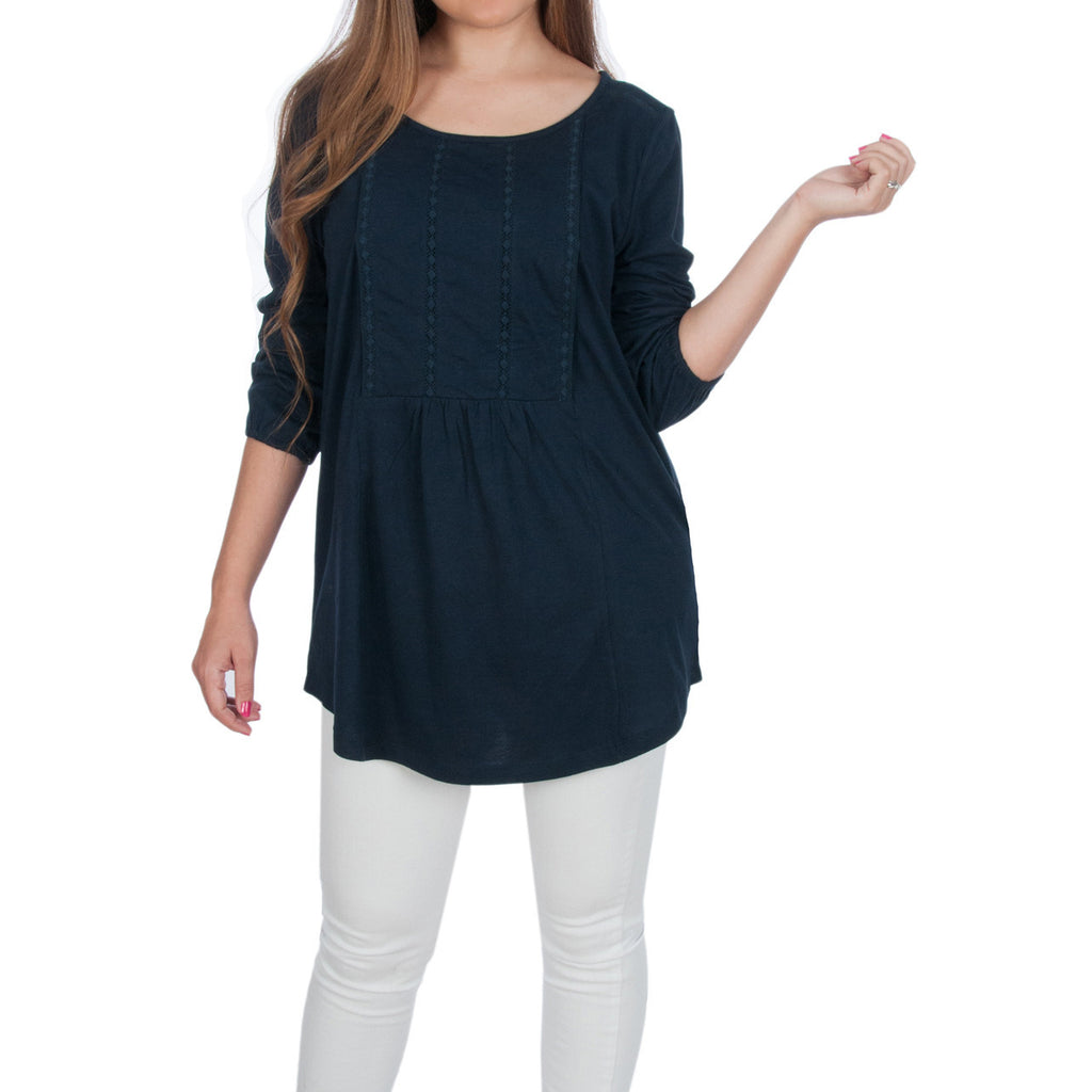 Maternity and Nursing Boho Top - Pullover Shirt - Lacey