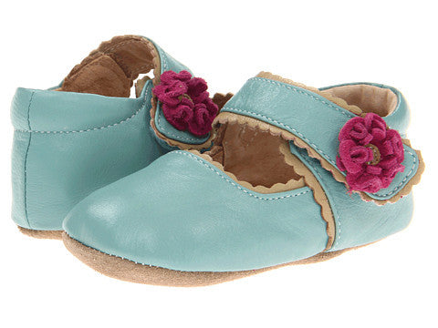Livie & Luca Merry Bell Baby Shoes - Light Blue
