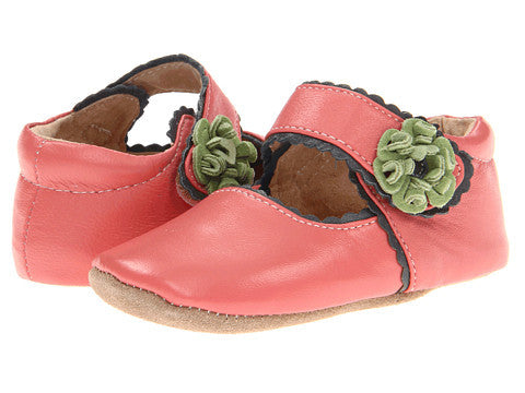 Livie & Luca Merry Bell Baby Shoes - Guava