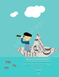 Printable Wall Art for Kids - Paper Boat II
