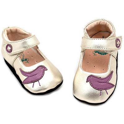 Livie and Luca Soft Sole Leather Baby Shoes - Pio Pio Gold