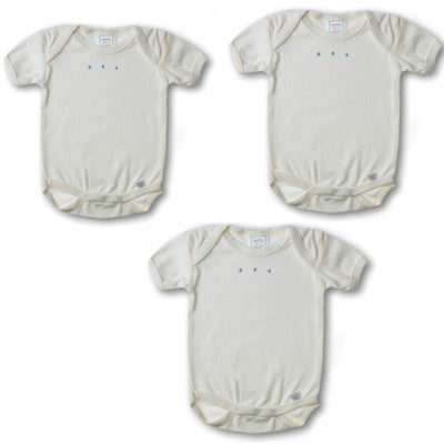 3 Pack Short Sleeve Organic Cotton Onesies