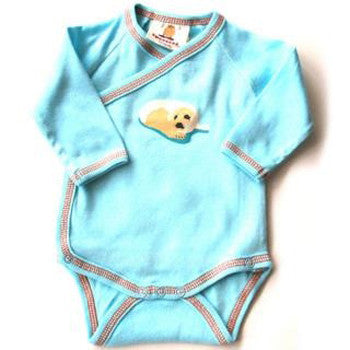 Speesees Organic Long Sleeved Kimono Bodysuit - Pup
