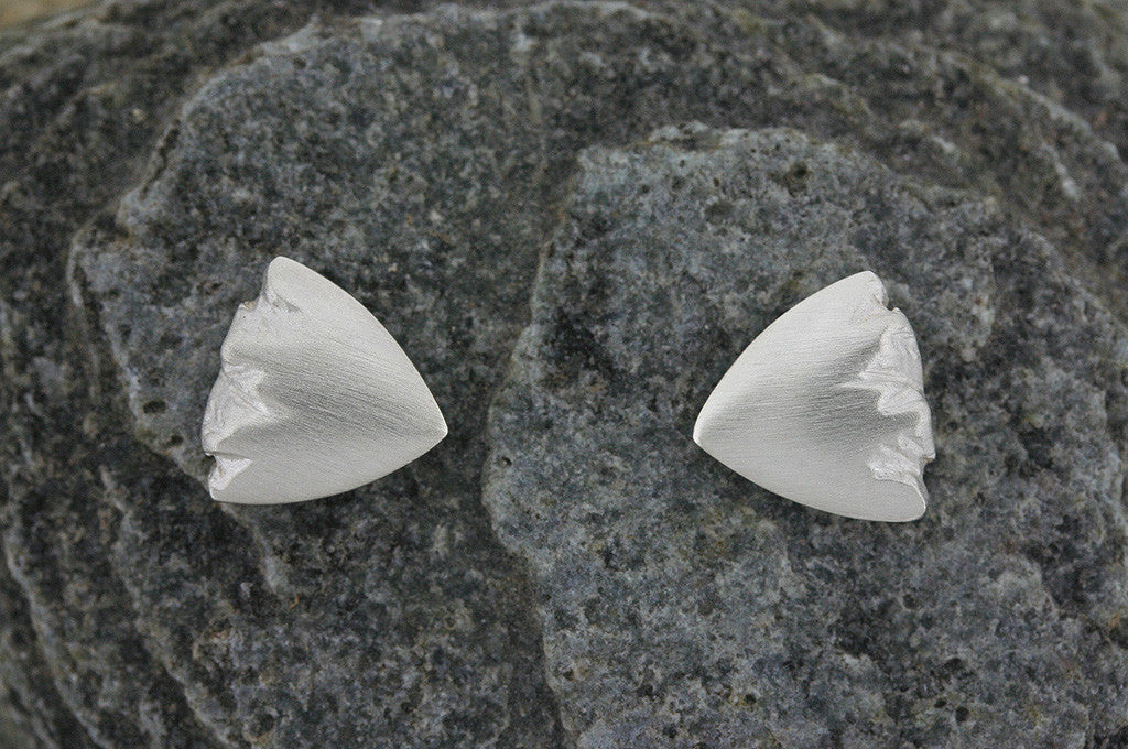 Highland Triangular Stud Earrings