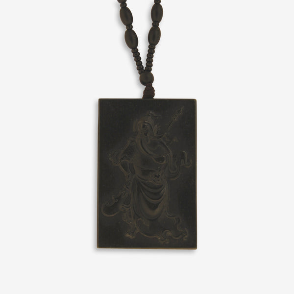 Dark Green Jade Guan Gong –  Warrior Amulet