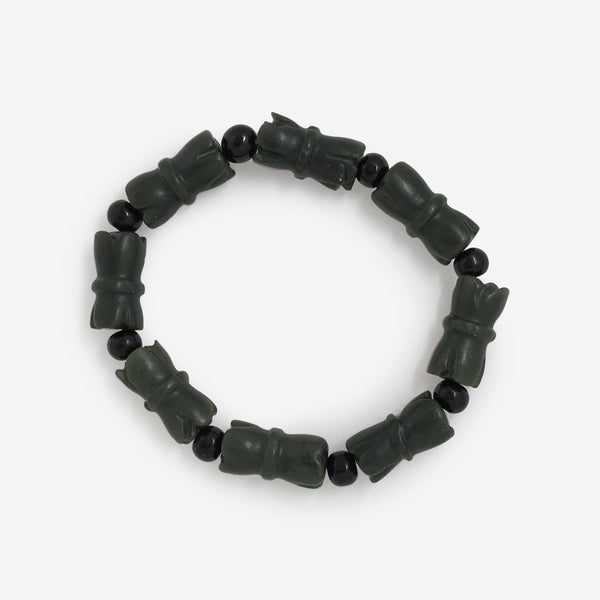 I Will Not Be Defeated - Jade Bamboo Wrist Mala - shifuyanlei.myshopify.com