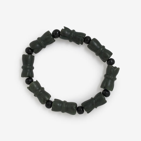 I Will Not Be Defeated - Jade Bamboo Wrist Mala