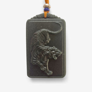 Green Jade Warrior Tiger - Amulet - shifuyanlei.myshopify.com
