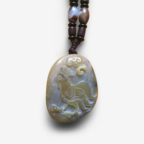 Enlightenment Rooster - Jade Amulet
