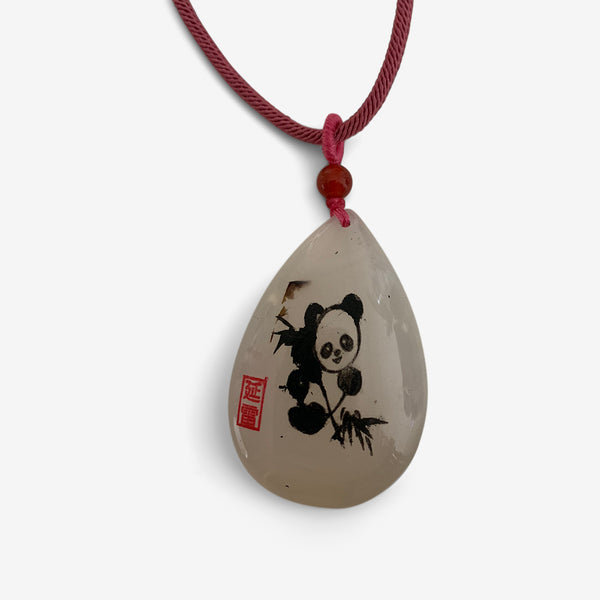Happy Panda - Agate Amulet