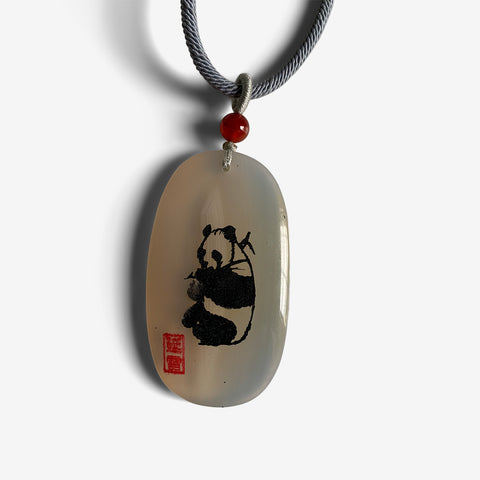Good Luck Panda - Agate Amulet