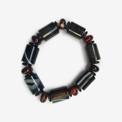 Dark Agate  - Urban Warrior Wrist Mala