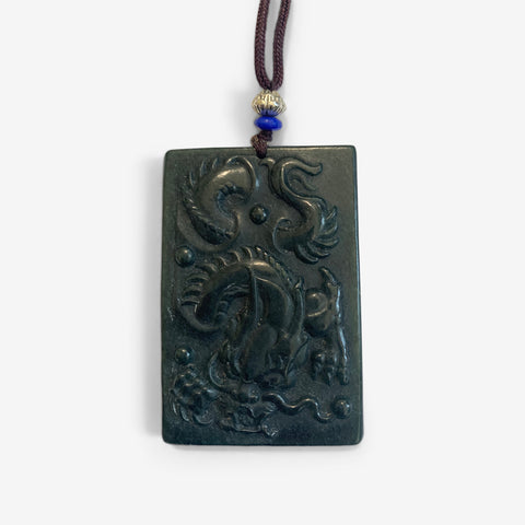 Longevity Dragon –  Jade Amulet