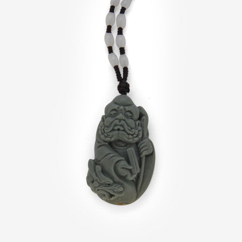 Damo - Bodhidharma With Scroll Amulet