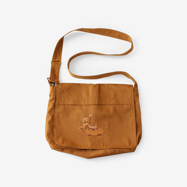 Lotus Satchel Buddha Bag (Ochre)