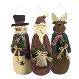 Primitive Holiday Character Hangers - Holt Bros. Mercantile  - 1