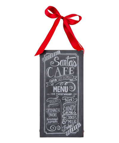 Santa's Cafe Wall Sign - Holt Bros. Mercantile