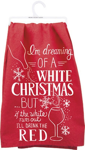 White Christmas Tea Towel - Holt Bros. Mercantile