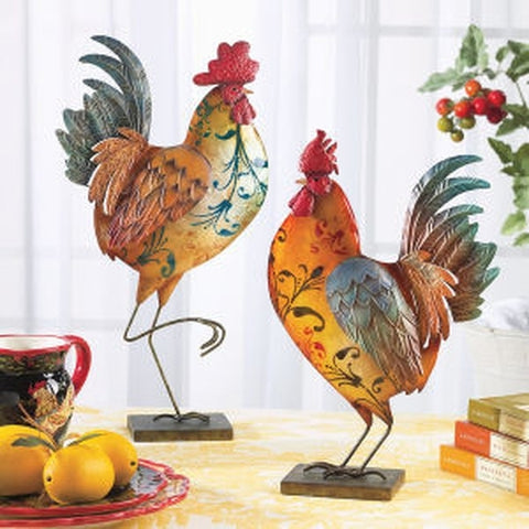 Tuscan Roosters Sculpture Set - Holt Bros. Mercantile
