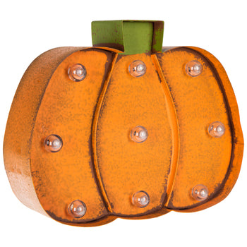 Orange LED Pumpkin Wall Decor - Short