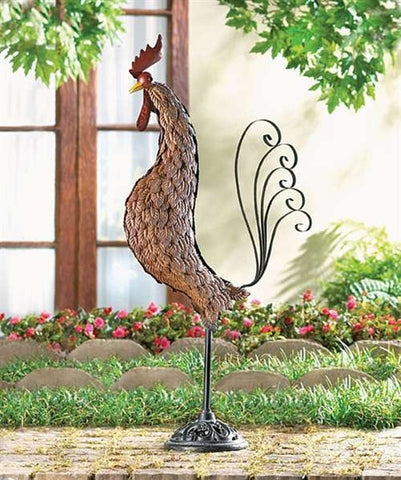Metal Rooster Sculpture - Holt Bros. Mercantile
