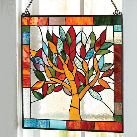 Stained Glass Window Panel:  Tree Of Life - Holt Bros. Mercantile  - 1