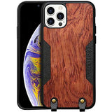 iPhone 12 Pro/12Shockproof Ultra Slim Wood Texture Case