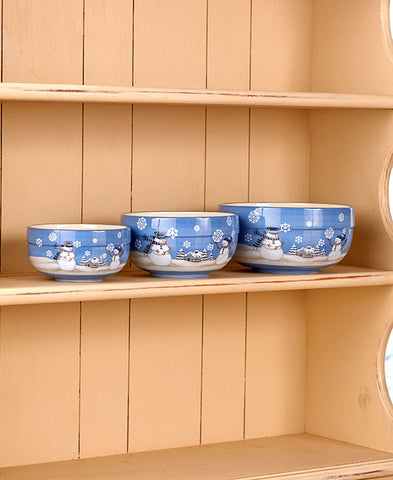 Snowman Bowls Set - Holt Bros. Mercantile  - 1