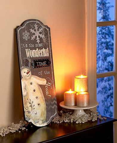 Frosty The Snowman Holiday Wall Sign - Holt Bros. Mercantile