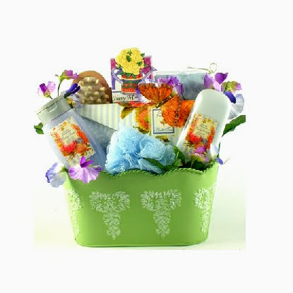 Butterfly Kisses Spa Gift Basket