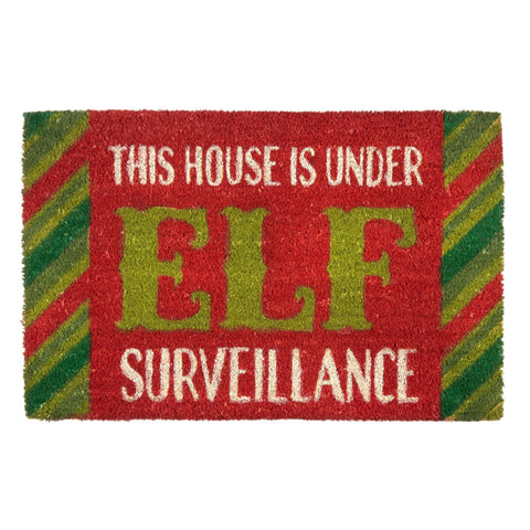 Elf Surveillance Coir Door Mat - Holt Bros. Mercantile