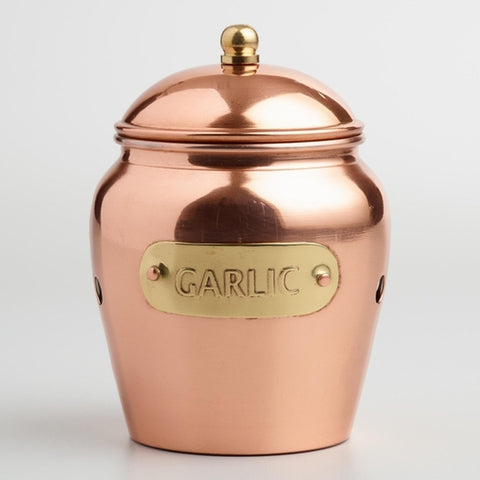Copper Garlic Keeper - Holt Bros. Mercantile  - 1
