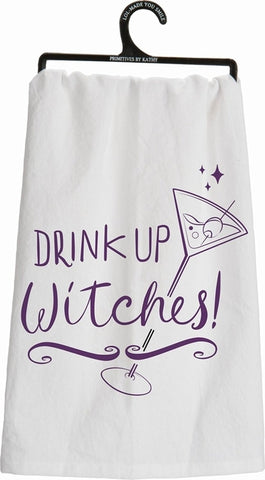 Drink Up Witches Tea Towel - Holt Bros. Mercantile