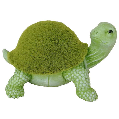 English Garden Mossy Turtle Sculpture