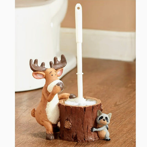 Woodland Characters Toilet Brush Set