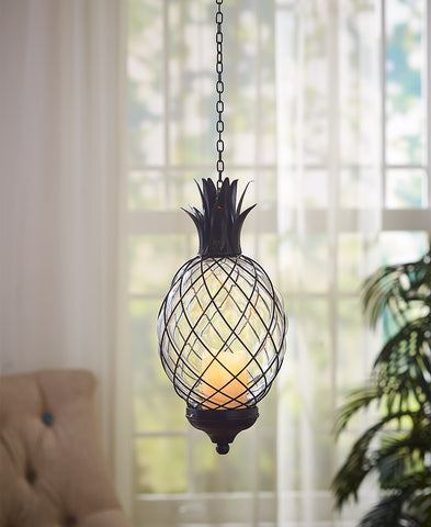 Glass Pineapple Pendant Lamp
