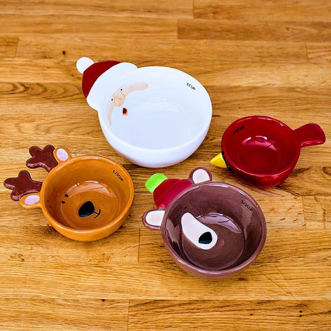 Santa & Friends Ceramic Measuring Cups