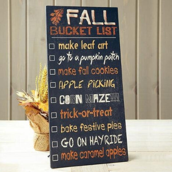'Fall Bucket List' Wall Sign - Holt Bros. Mercantile  - 1